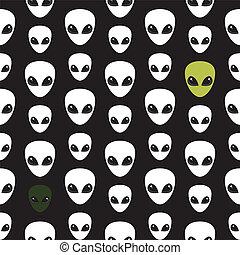 Alien. Extraterrestrial. Head.