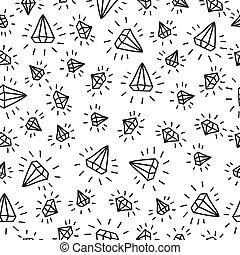 Cartoon diamond seamless vector background. Template for your design.