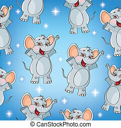 Elephant kids pattern wallpaper background in vector...
