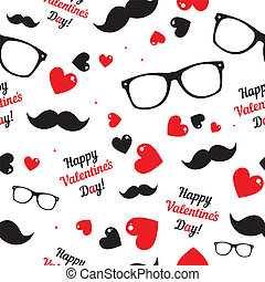 Hipster symbols Valentines Day background - Hipster symbols...