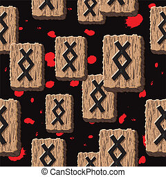 Rune Inguz vector - Rune Inguz. Abstract vector background...
