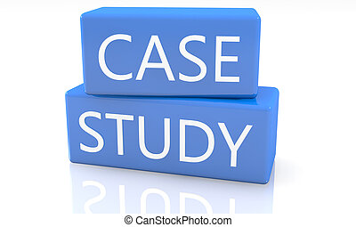 Case Study - 3d render blue box with text Case Study on it...
