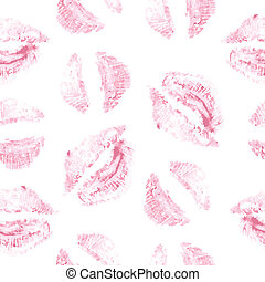 Vector seamless background. lips prints vector illustration