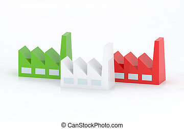 italian factory 3d illustration