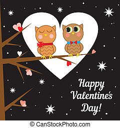Greeting card for Valentine's day. Vector illustration.