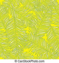 Palm leaves. Seamless vector background. Floral. - Palm...