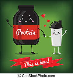 Cute Jar Sport Nutrition and Shaker - Sports nutrition...