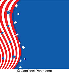 Background in colors of the American flag. - Frame in the...