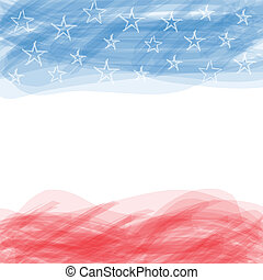 USA flag A poster with a large scratched frame - USA flag A...
