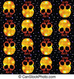 Skull Ornamental Pattern - Seamless pattern with skulls...