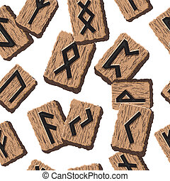 Norwegian runes Abstract vector background with Template for...