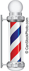 Symbol barber lamp - Symbol for a barber with lamp. Vector...