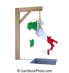 crisis in Italy concept