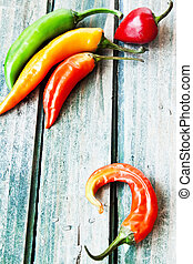 Chili Peppers, Colorful Spicy Peppers - Chili Colourful...