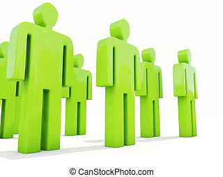 People on white - A crowd of people on a white background