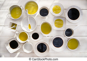 Pans with oil and vinegar - Presentation of the basic...
