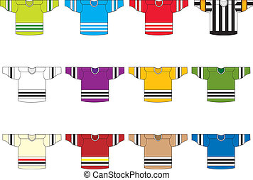 set of 12 ice hockey jersey