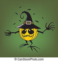 trick or treat/halloween pumpkin
