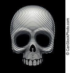 Skull engraving imitation. Eps8. CMYK. Organized by layers....