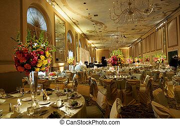 alto, fin, boda, recepción