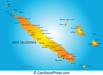 New Caledonia - Vector color map of New Caledonia