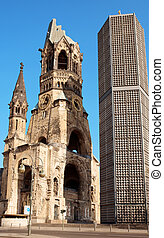 Kaiser Wilhelm Memorial Church in Berlin. Historical church...