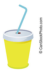 cup with a straw