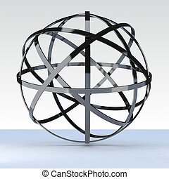 3d geosphere chromed