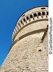 wieża, forteca, San, lew