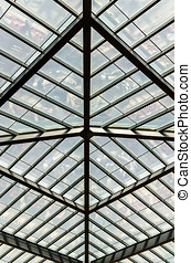 Roof structure - roof structure in a modern building