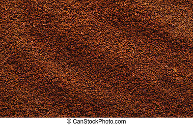 Ground coffee - Texture of natural ground coffee