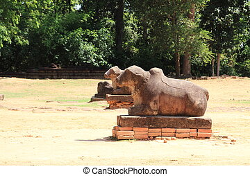 Nandi at Preah Ko in Angkor