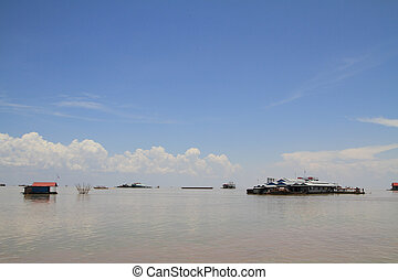 Tonle Sap lake in Cambodia