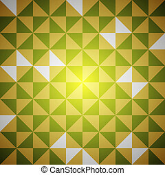 Vector retro pattern - Green and yellow vector clean retro...