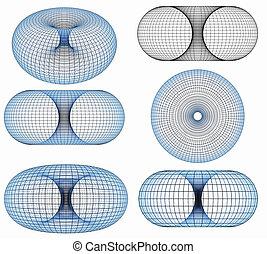 Torus 3d - 3d image Net framework of a torus