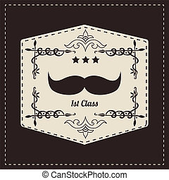 Hipster retro mustache, vector illustration