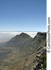 View from top of Table Mountain in Cape Town, South Africa