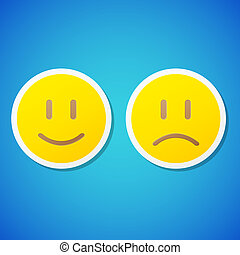 Vector emoticons stickers - Set of clean vector emoticons...