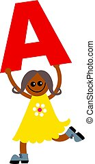 letter A kid