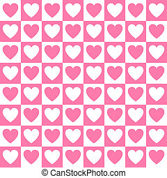 Simple vector heart pattern - Simple vector pink heart...