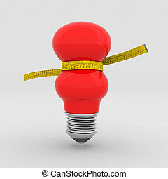 red bulb on a diet