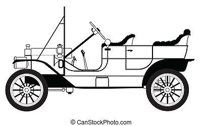 Classic Automobile - A classic automobile in the style of a...