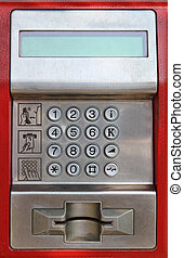 Payphone keaypad detail - Digital keypad detail on public...