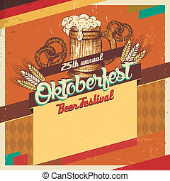 Oktoberfest beer festival vintage card - Vintage style...