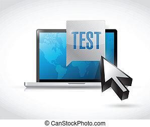 computer test illustration design