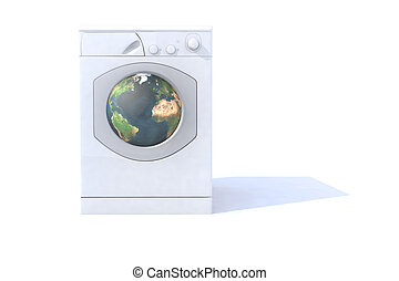 washing machine with the world inside - washing machine that...