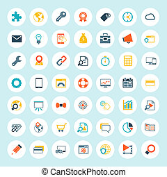 Set of Seo Icons. Color Vector, illustration