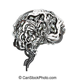 Brain - An Mechanical super brain in cross section