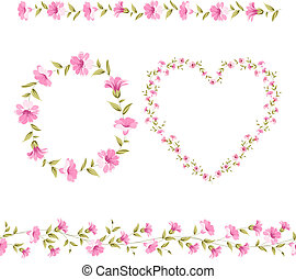 Floral Frame Collection. - Set of cute flowers frames...
