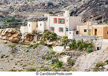 Houses Saiq Plateau - Image of houses on Saiq Plateau in...